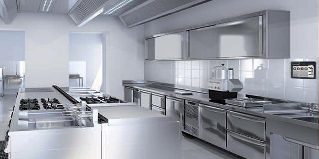 Cucina professionale ristorazione acciaio