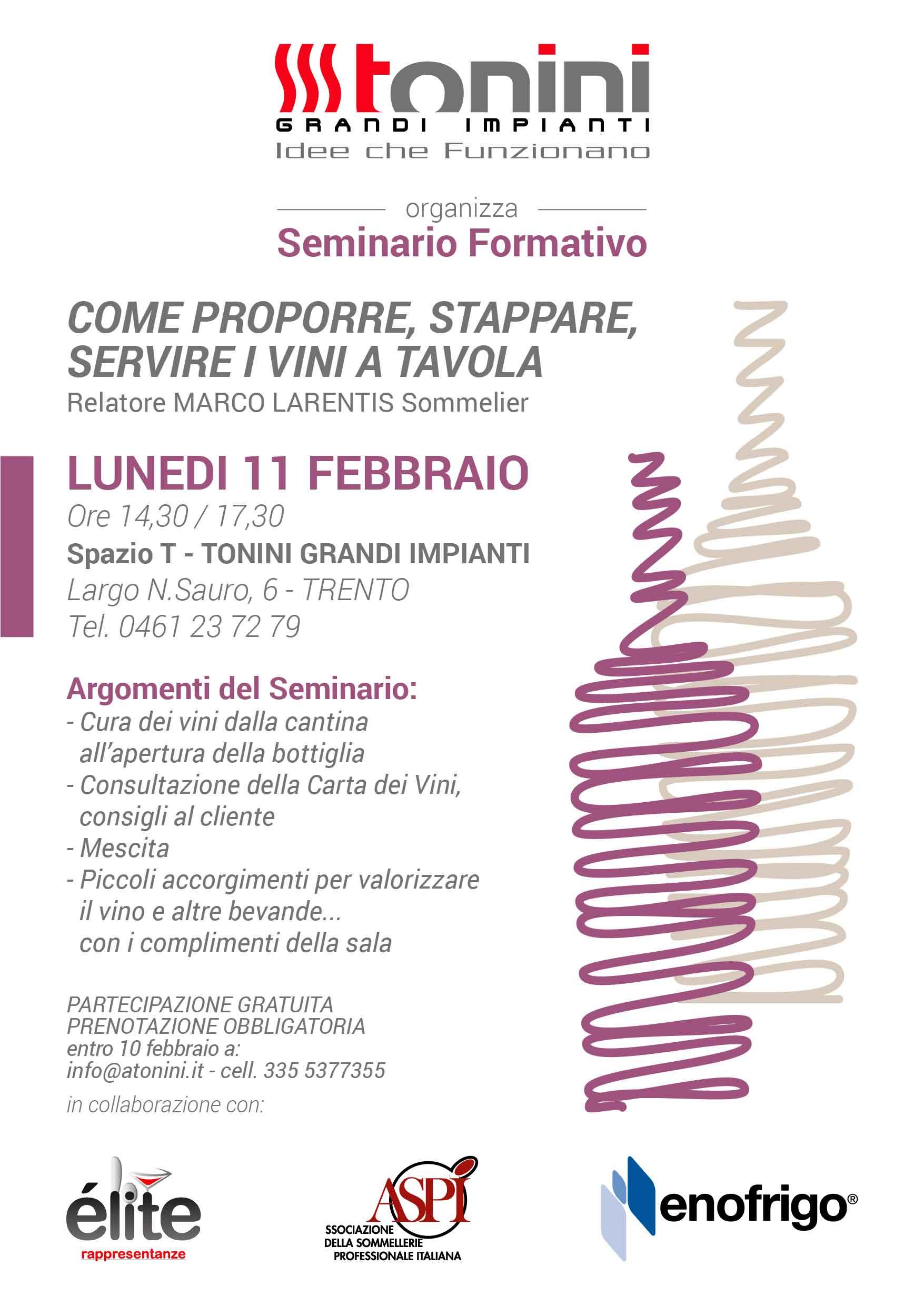 Locandina evento seminario formativo mescita vino