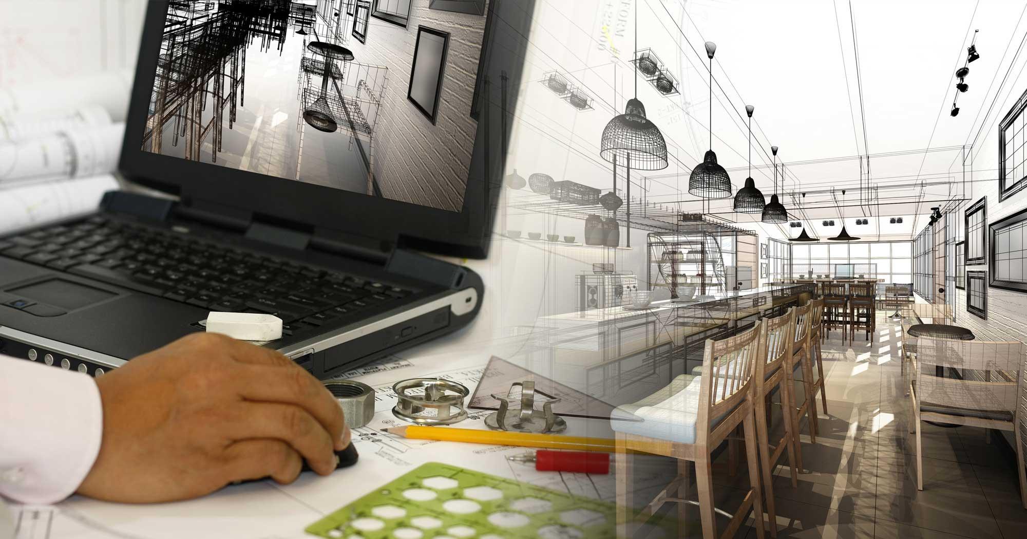 Copertina progettazione 3D ristorazione