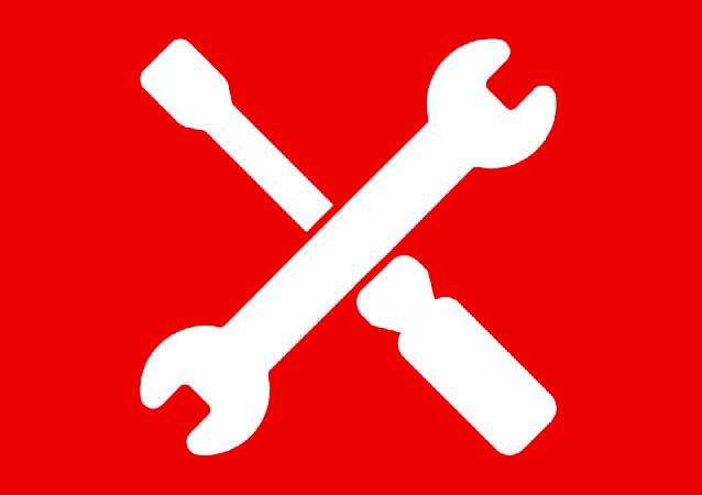Icona assistenza bianca rossa